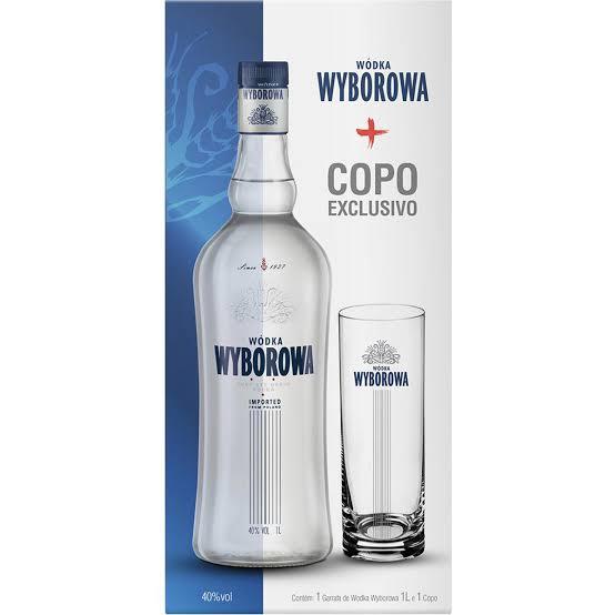 Vodka  1Litro Wyborowa garrafa + copo UN