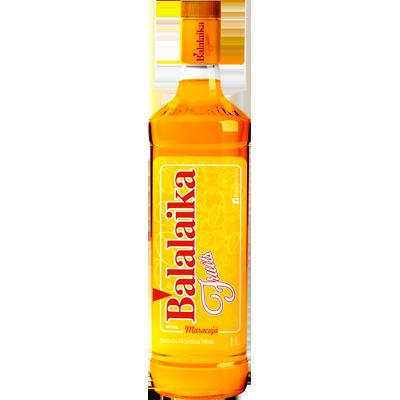 Vodka sabor maracujá de 900ml a 1Litro Balalaika garrafa UN