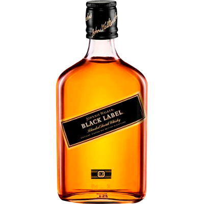 Whisky Black Label 350ml Johnnie Walker garrafa UN
